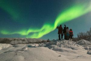 aurora boreal em Murmansk