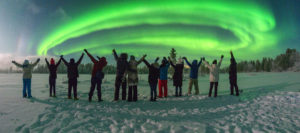 Northern Lights hunting in Kola peninsula of Russia